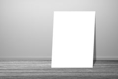 White poster in empty room.space for your text and picture.product display template.Business presentation.clipping path include. Stock Photography