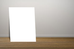 White poster in empty room.space for your text and picture.product display template.Business presentation.clipping path include. Royalty Free Stock Photography