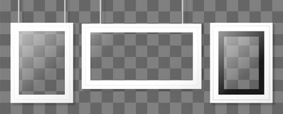 White poster or picture frame. Vector template. Stock Photography