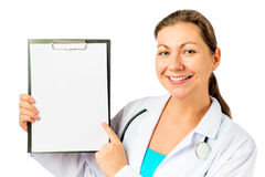 White poster for records and health worker Royalty Free Stock Photo