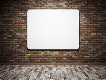 White poster on the wall royalty free illustration