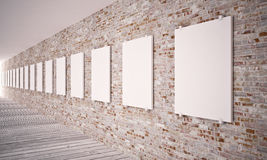 White posters о� wall Royalty Free Stock Image