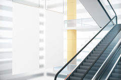 White posters and staircase Stock Image