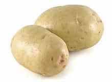 White Potatoes. Raw white potatoes, white background stock images
