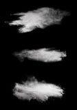 White powder explosion isolated on black background Stock Image
