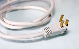 White Power Cord for Computer Royalty Free Stock Photo