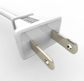 White Power Cord and Plug Royalty Free Stock Images
