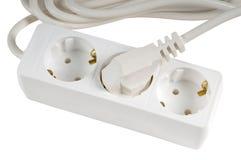 White power extension cord Stock Photo