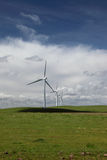 White Power Generating Wind Turbines Stock Photography