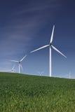 White Power Generating Wind Turbines Stock Image