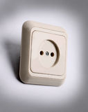 White Power Outlet Royalty Free Stock Images
