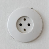 White power outlet, isolated Royalty Free Stock Images