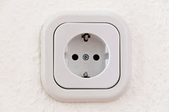 White Power Outlet With Path Stock Photos