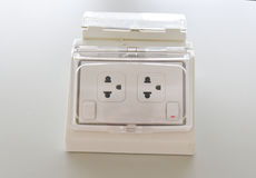 Free White Power Outlet W/ Path Stock Images - 96952534