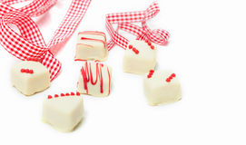 White pralines, gift Royalty Free Stock Images
