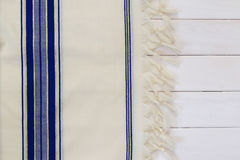 White Prayer Shawl - Tallit, jewish religious symbol Royalty Free Stock Images