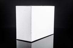 White present cardboard box Stock Images