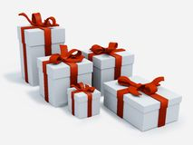 White presents boxes Royalty Free Stock Images