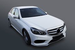 White prestige car. On black background Royalty Free Stock Photo