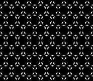 White prickly figures on black background. Vector monochrome texture, abstract minimalist seamless pattern. White small prickly figures on black background Royalty Free Stock Images