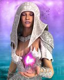 The white priestess Stock Images
