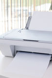White printer on the desk in office Stock Photos