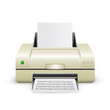White printer icon Stock Photo