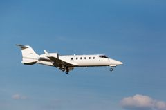 White private jet Stock Image