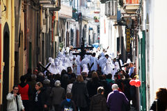 White procession Royalty Free Stock Photo