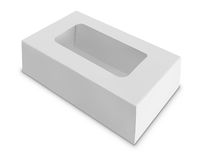 White Product Package Box With Window Stock Photography