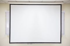 White projector screen Royalty Free Stock Photography