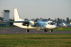 White propeller plane Stock Photo