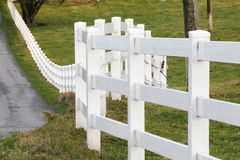 White Property Border Fence Royalty Free Stock Photography
