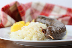 White pudding Royalty Free Stock Photography