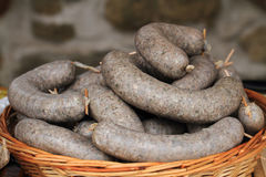 White pudding as czech traditional food stock image
