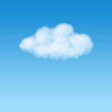 White puffy cloud on blue sky Stock Photos