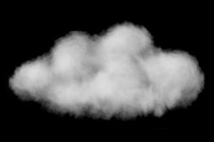 White puffy cloud isolated on black Royalty Free Stock Image