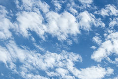 White puffy clouds Royalty Free Stock Images