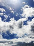 White fluffy clouds and blue sky Royalty Free Stock Image