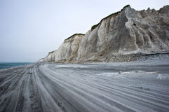 White pumice rocks at the seaside. Kuril Islands. Stock Photography