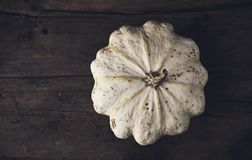White Pumpkin for Recepies. White pumpkin for soup recepies, vintage backround and food photography Royalty Free Stock Images