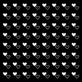 White pure heart pattern background Royalty Free Stock Photos