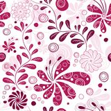 White and purple repeating wallpaper Royalty Free Stock Image