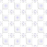 White and purple small rectangle gropes and leaves seamless Royalty Free Stock Photos