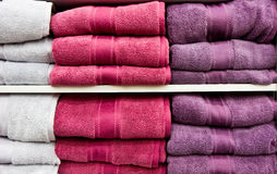 White and Purple Towels Royalty Free Stock Photos
