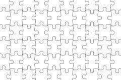 White puzzle background jigsaw puzzle Stock Photo
