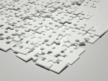 White puzzle. 3d rendering Royalty Free Stock Photo