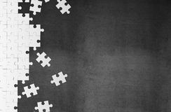 White puzzle Stock Photography
