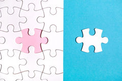 White puzzle with missing part Royalty Free Stock Photos
