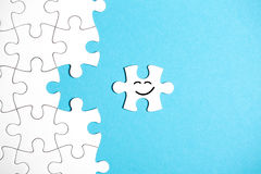 White puzzle with missing part Royalty Free Stock Images